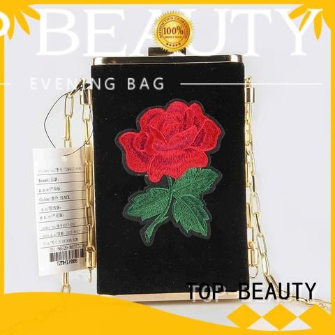 TOP-BEAUTY Arts & Crafts Brand clutches printed velvet shiny sequins bags wholesale hot selling