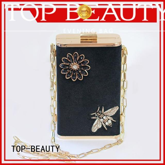 TOP-BEAUTY Arts & Crafts Brand closure spring bucket bag custom shiny sequins bags wholesale
