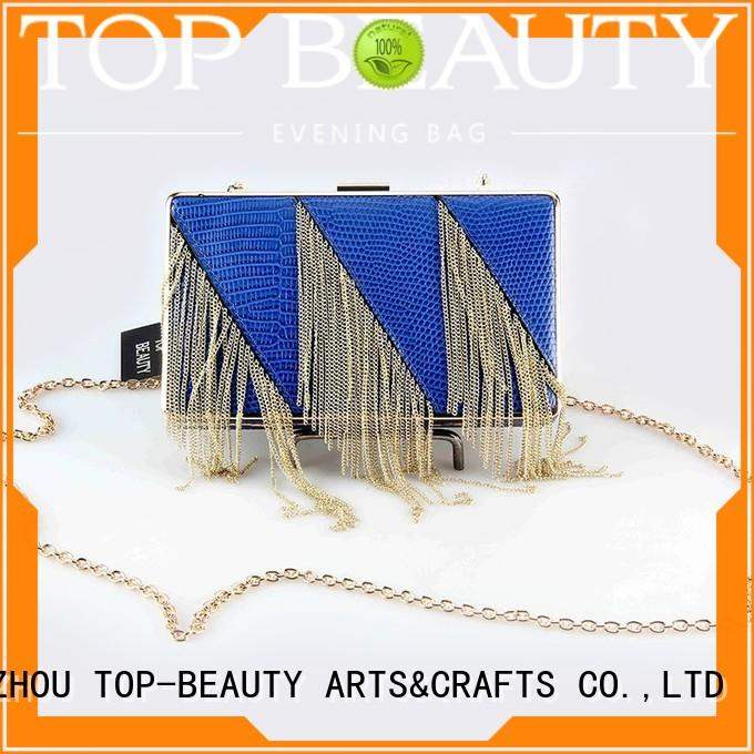 top selling arrival clutch fashion TOP-BEAUTY Arts & Crafts Brand sequinsslingbags supplier