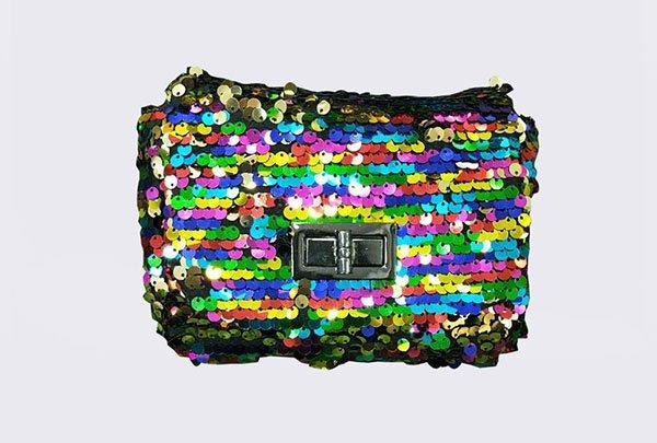 TOP-BEAUTY Arts & Crafts Brand flower fashion shiny sequins bags wholesale hot selling