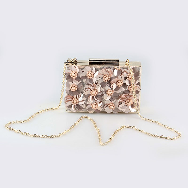 TOP-BEAUTY Arts & Crafts Spring&Summer 2018 Flower Beaded Decoration Frame Clutch For Ladies Floral Evening Bags image4