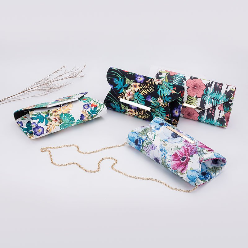TOP-BEAUTY Arts & Crafts Hot-sale 2018 New Printed Fabric Evening Clutch For Wholesale Floral Evening Bags image3