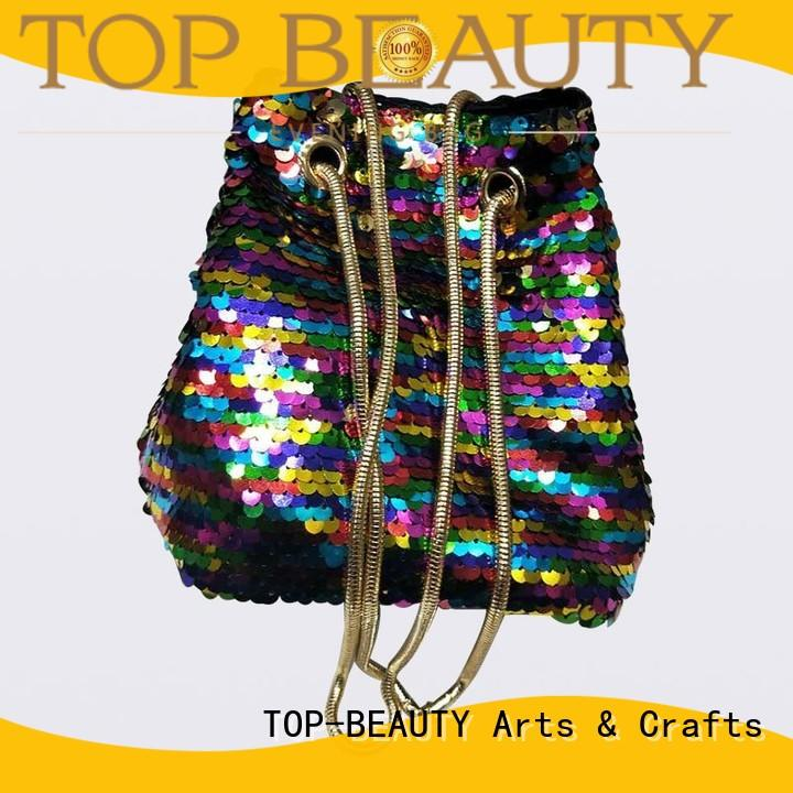 TOP-BEAUTY Arts & Crafts Brand handbag quality envelope sequins sling bags