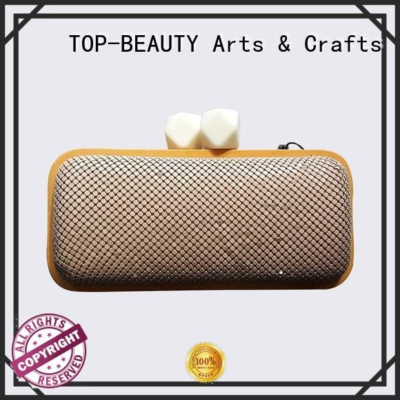 TOP-BEAUTY Arts & Crafts popular wooden frame clutches wholesale for shopping