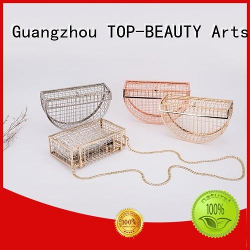 TOP-BEAUTY Arts & Crafts beautiful metal chain clutch bag supplier for party