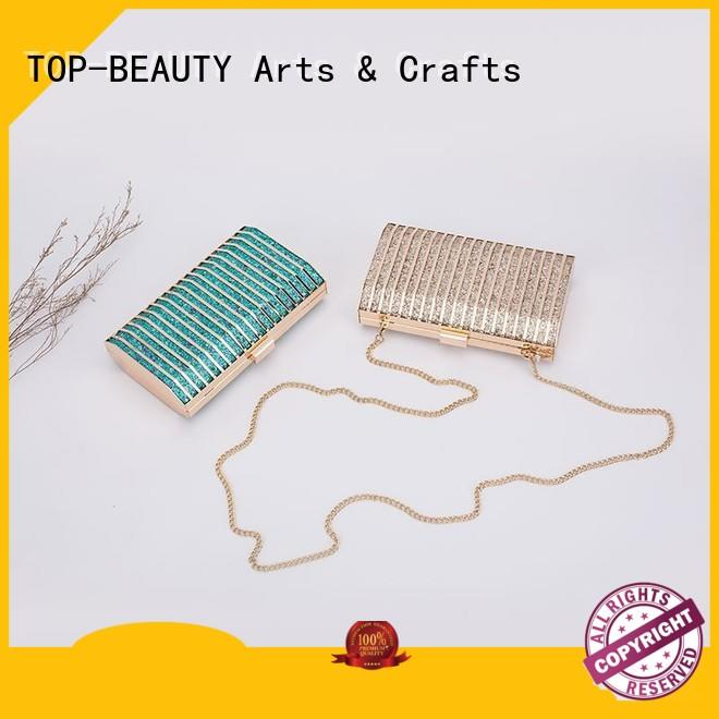 straw metal clutch bag manufacturer supplier for women TOP-BEAUTY Arts & Crafts