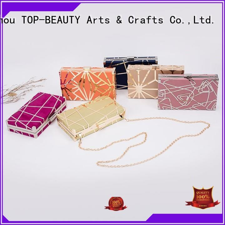 TOP-BEAUTY Arts & Crafts beautiful metal carved crossbody clutch straw for shopping