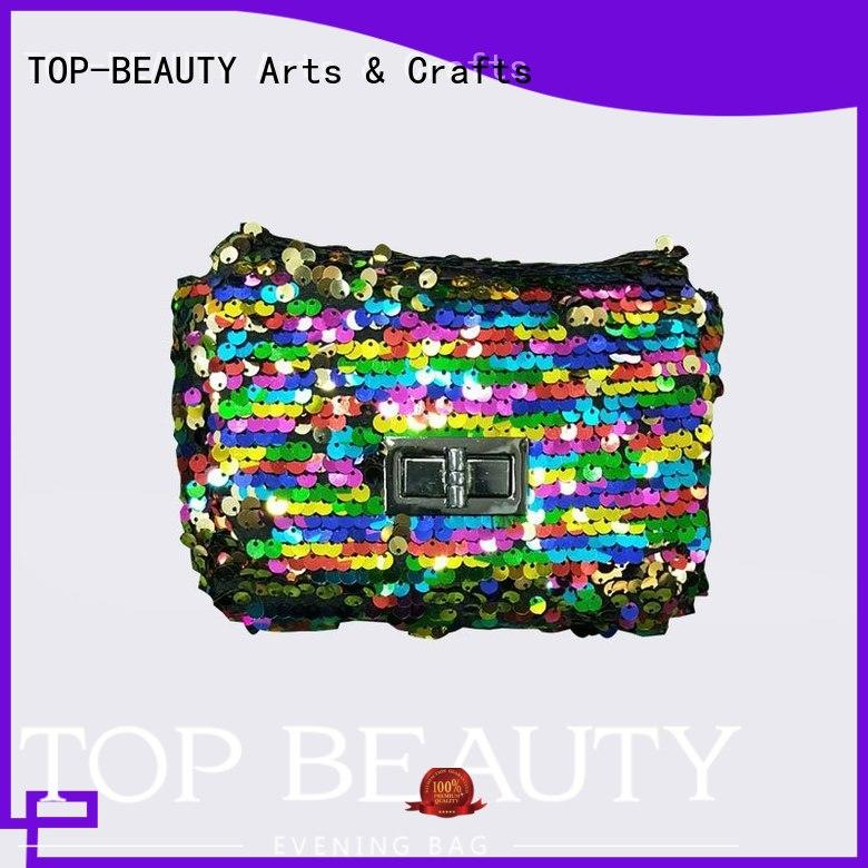 TOP-BEAUTY Arts & Crafts Brand cosmetic fashion shiny sequins bags wholesale