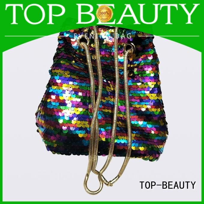shiny sequins bags wholesale pu mirror TOP-BEAUTY Arts & Crafts Brand company