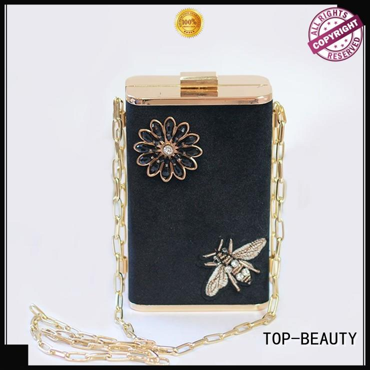 TOP-BEAUTY Arts & Crafts metal clutch wholesale for women