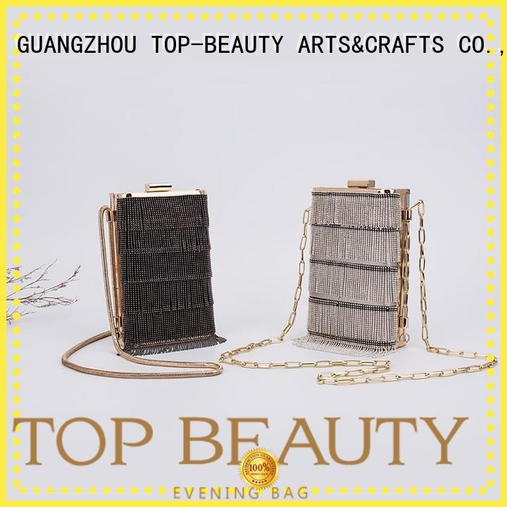 clutch high quality girl TOP-BEAUTY Arts & Crafts Brand shiny sequins bags wholesale manufacture