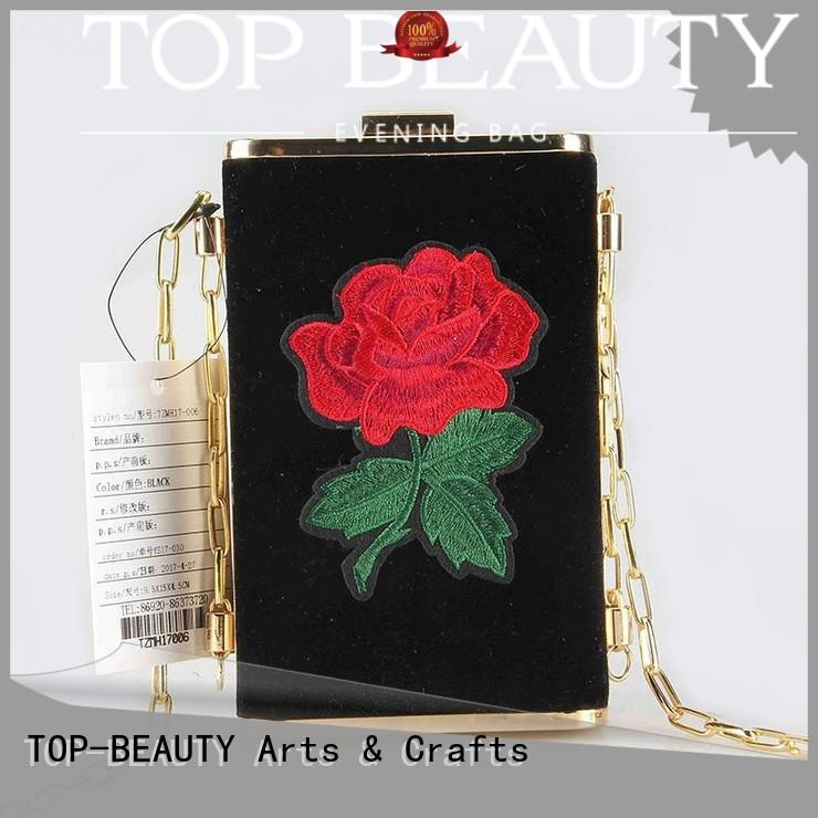 TOP-BEAUTY Arts & Crafts Brand carved summer design shiny sequins bags wholesale messenger