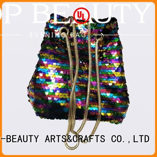 fashionable bead shiny TOP-BEAUTY Arts & Crafts Brand shiny sequins bags wholesale manufacture