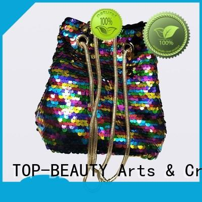 sequinblingwomens bucket bag multicolor for shopping TOP-BEAUTY Arts & Crafts