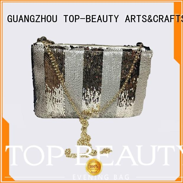TOP-BEAUTY Arts & Crafts Brand fabric party embroidery shiny sequins bags wholesale