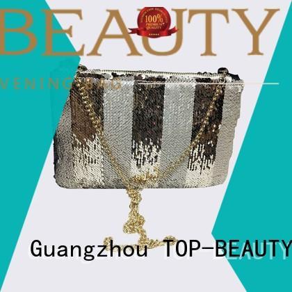TOP-BEAUTY Arts & Crafts Brand fashionable velvet sequinsslingbags manufacture