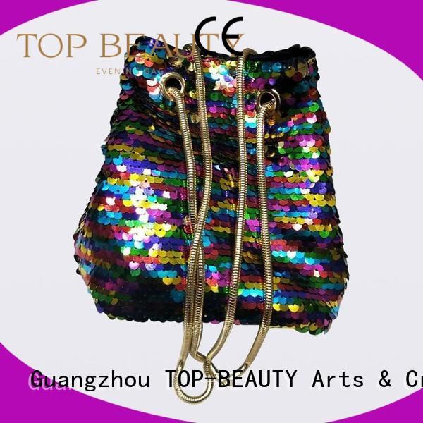 bag Custom design sequinsslingbags clutch TOP-BEAUTY Arts & Crafts