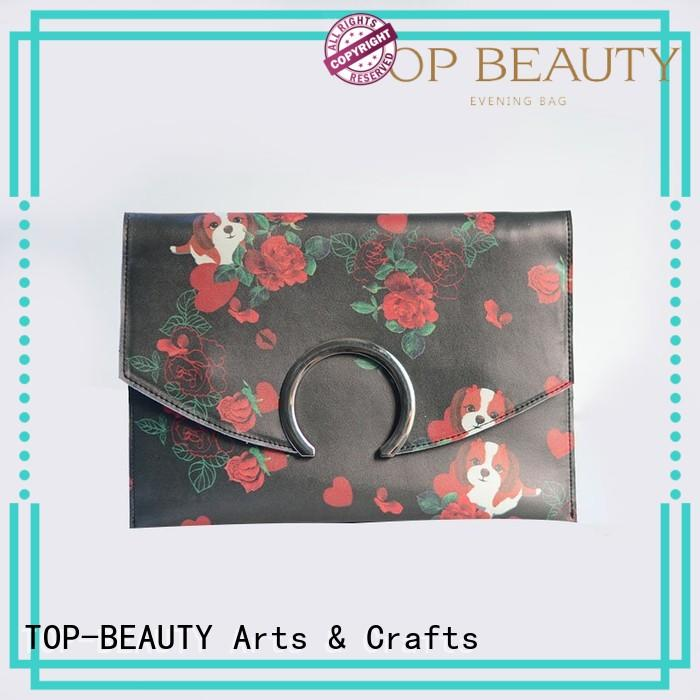 TOP-BEAUTY Arts & Crafts Brand case flower shiny sequins bags wholesale tassel supplier