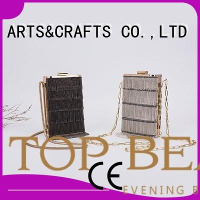 TOP-BEAUTY Arts & Crafts Brand suede carved shiny sequins bags wholesale envelope supplier