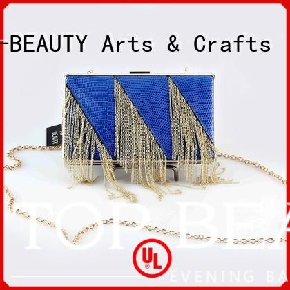 professional wooden metal TOP-BEAUTY Arts & Crafts Brand shiny sequins bags wholesale factory