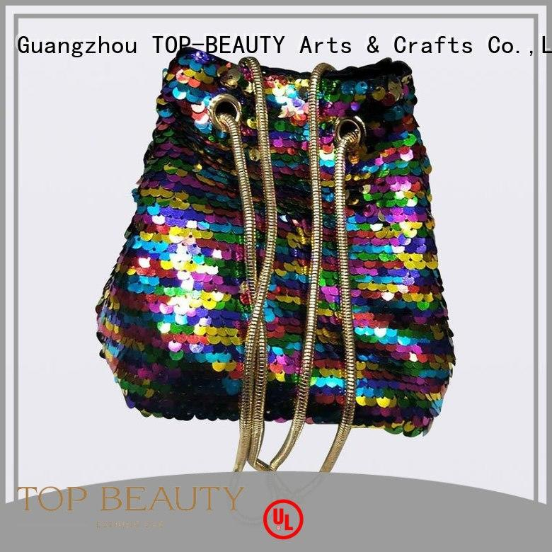 TOP-BEAUTY Arts & Crafts Brand hot selling high quality top shiny sequins bags wholesale