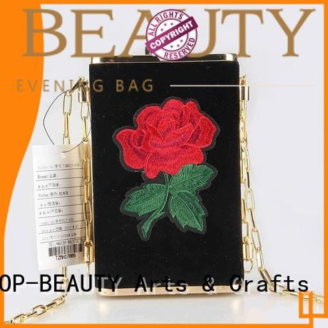 stylish floral clutch factory direct supply for shopping