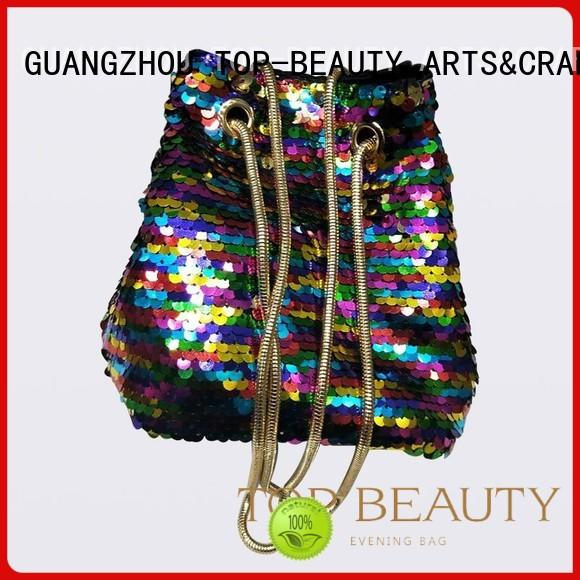 TOP-BEAUTY Arts & Crafts Brand from closure shoulder sequinsslingbags manufacture