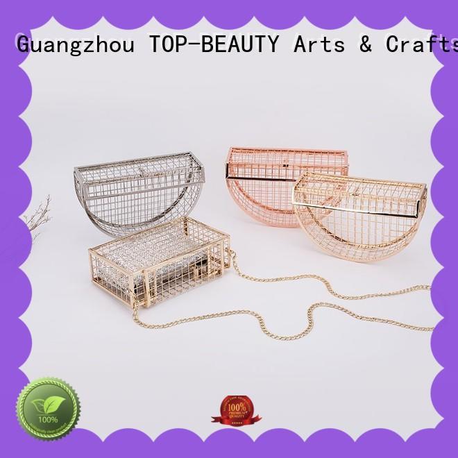 TOP-BEAUTY Arts & Crafts elegant metal clutch manufacturer for women