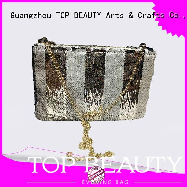 Quality TOP-BEAUTY Arts & Crafts Brand metal sequinsslingbags
