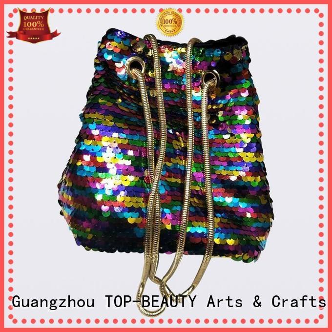 TOP-BEAUTY Arts & Crafts modern design sequinbags manufacturer for women