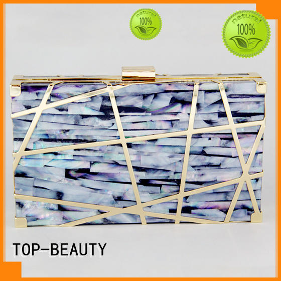 TOP-BEAUTY Arts & Crafts seashell clutch bag wholesale for ladies