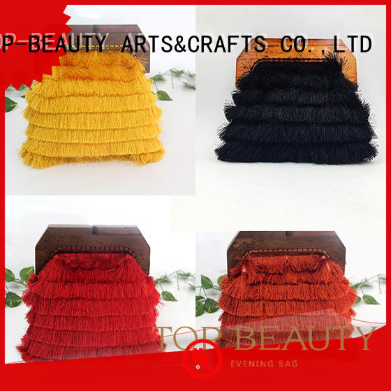 lock metal wooden TOP-BEAUTY Arts & Crafts Brand shiny sequins bags wholesale factory