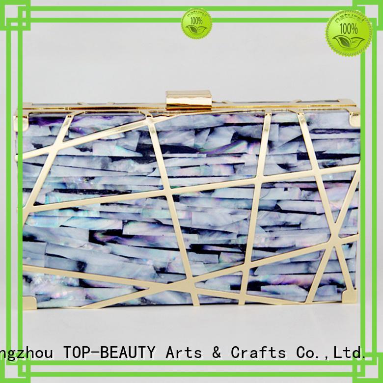 TOP-BEAUTY Arts & Crafts seashell clutch bag manufacturer for women